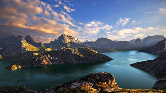 挪威,美丽,大自然。