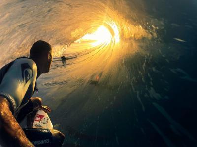 照片,波,太阳,极端,运动,冲浪