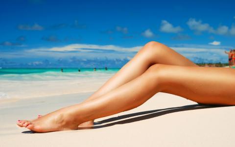 壁纸,在沙滩上,脚