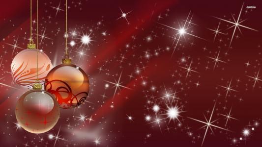 图片,明亮,新年,球,玩具,星星