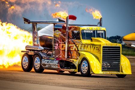 卡车,拖拉机,彼得比尔特,涡轮机,火