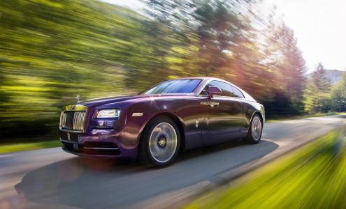 超级跑车,劳斯莱斯,照片,速度,道路,森林,山脉