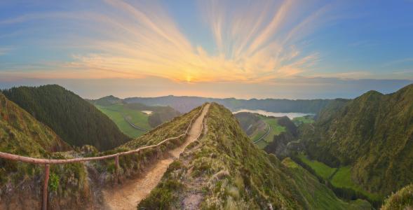 葡萄牙,日出,性质,路径,丘陵