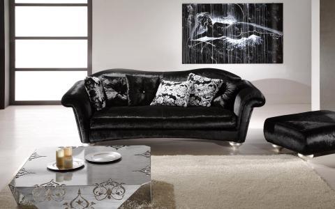 沙发,桌子,蜡烛,图片