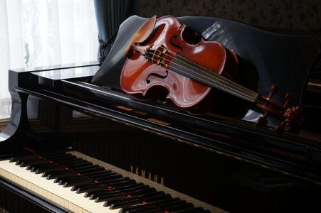 乐器,小提琴,钢琴