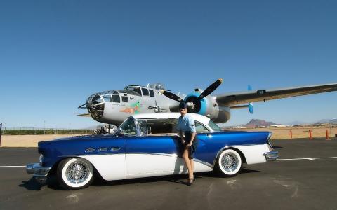飞机,汽车,技术,汽车,女孩,帽子,裙子,丝袜,罕见,天空,山,机场,鞋,腿,腿,女孩,女孩