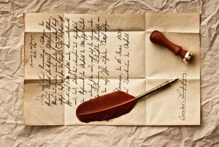 复古,羽毛,字符串,信,邮票,复古,复古