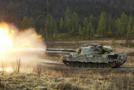 坦克,豹,凌空