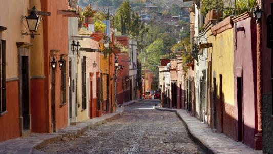 道路,路面,电线,手电筒,街道,房屋,汽车