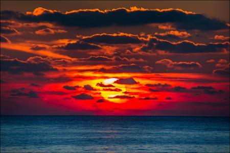 日落,太阳,克里米亚,sergei anashkevich,塞瓦斯托波尔,chersonese,海角,海,水,白,黄色,橙色,红色,紫色,发光,天空,云
