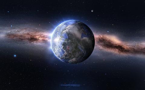 空间,星星,数百万年,地球,行星