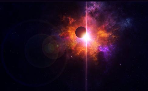 星球,明星,光,空间,空间,明星,星球
