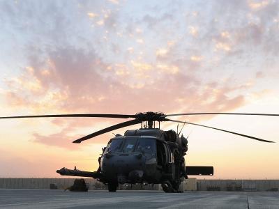 60,西科斯基,直升机,铺鹰,刀片,天空,HH-60G,日落