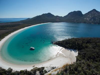 自然,沙滩,视图,从上面,塔斯马尼亚岛
