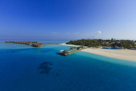 马尔代夫,天堂岛,蓝色的水