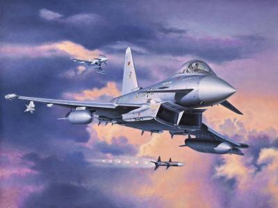 战斗机,飞机,欧洲台风,艺术,多用途,在