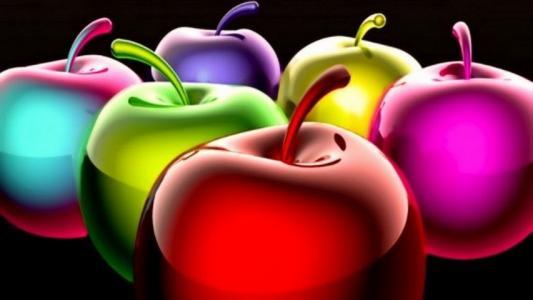 Kolorowe,苹果,动画,图形