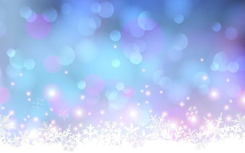 图片,新的一年,雪花,明亮,美丽