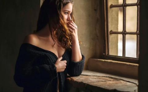 女孩,窗口,囚犯