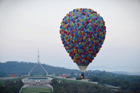 气球,天空,城市,美丽,飞行