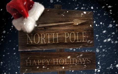 假期,新年,新年,节日,指针,箭头,北极,红色,帽子,圣诞老人,圣诞老人,冬天,雪,风,暴风雪,暴雪,北极,节日快乐,雪,冬天,风