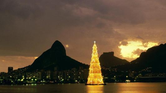 巴西,山,力拓,圣诞树