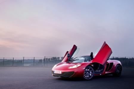 红色,麦克拉伦,mp4-12c,红色,迈凯轮,超级跑车