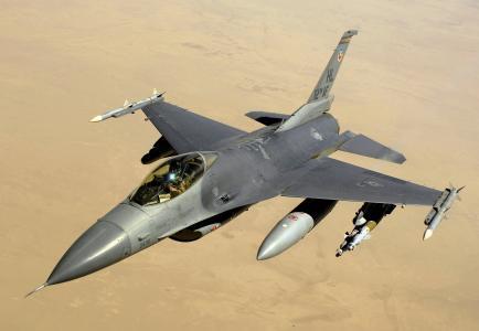 天空,F-16,沙漠,战斗,猎鹰