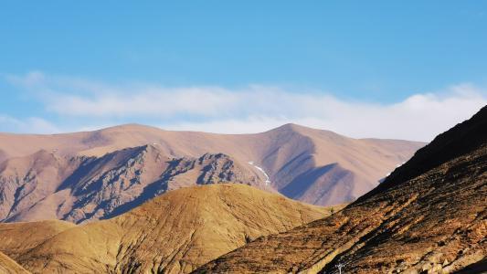 壮观美丽的高山与天空