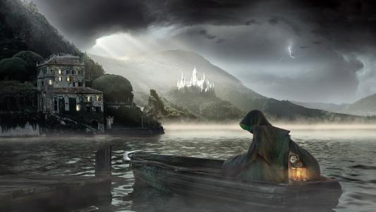 死亡,船,海,雾