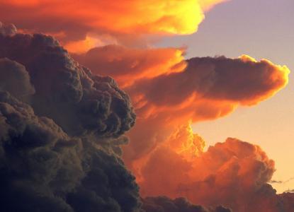 云,旋风,日落,自然,美丽,天空