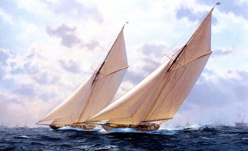 图片,海,极端,天空,云,帆船,美丽