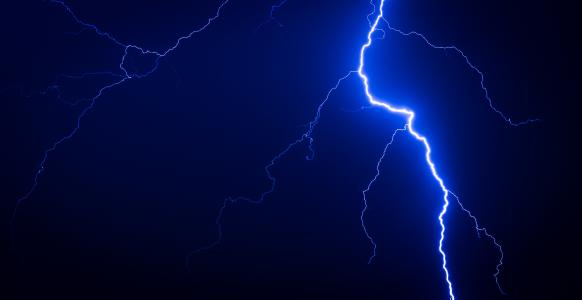 闪电,夜,性质