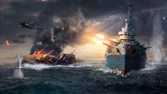游戏,船舶,战斗,海洋