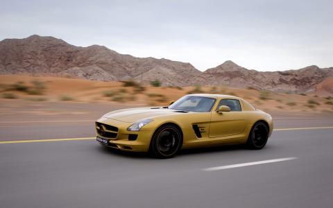 梅赛德斯 - 奔驰,速度,单杠,黄色