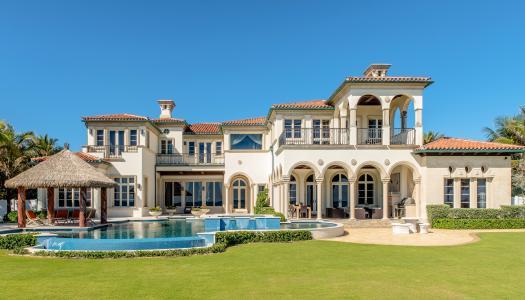 房子,设计,豪宅,池,草坪