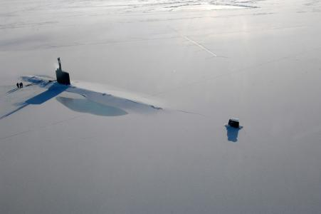 冰,海洋,潜艇