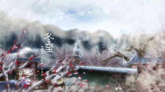 冬至节气寒梅风景