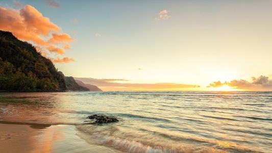 Napali,沙滩,阳光