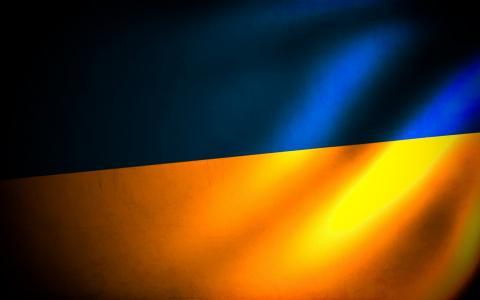 乌克兰,国旗,蓝色,黄色