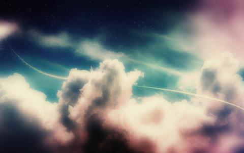 天空,地带,阴影