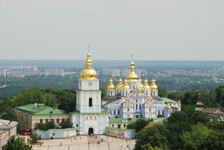 基辅,Mikhailovsky Zlatoverkhy广场