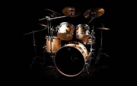 音乐,鼓组,雷莫,黑色的背景