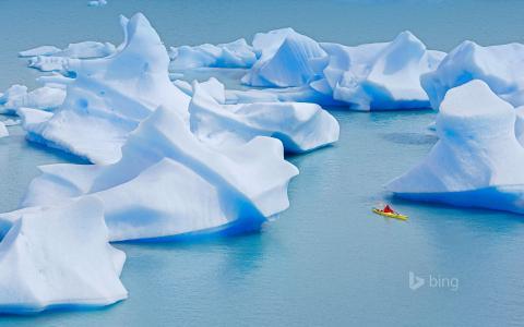 自然,海洋,极端,放松,照片,冰,冰山,智利