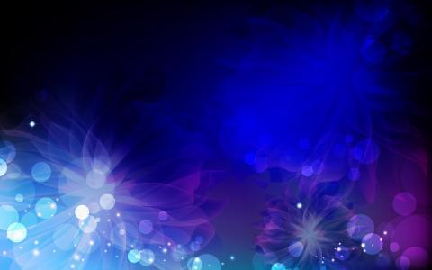 白色,蓝色,蓝色,模式,黑色,鲜花,粉红色