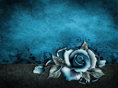 复古,grunge,玫瑰,纸,壁纸,蓝色,花卉,纹理,复古,背景,纹理,玫瑰,纸