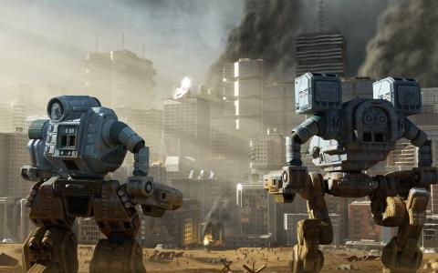 城市,大都会,机器人