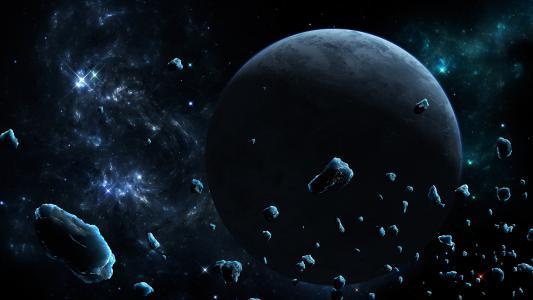 空间,星星,小行星,冰,艺术,陨石,星球