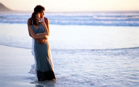 海风,情侣,爱情