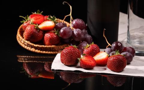 浆果,草莓,葡萄